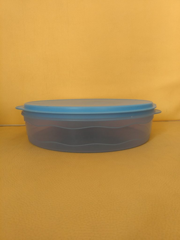 Tupperware Plat à Gateau de couleur bleue